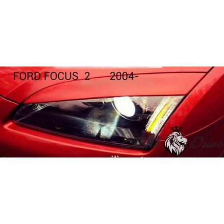 Реснички FORD FOCUS 2 (05-07) ШИРОКИЕ