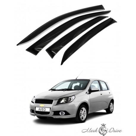 Дефлекторы окон для Chevrolet Aveo х/б 2006-2012 г.