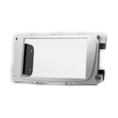 Переходная рамка для Ford Focus 2 (Sony), S-Max 07+, Mondeo 07+, серебр. 2 din с металл креплениями