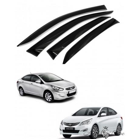 Дефлекторы окон для Hyundai Solaris седан 2011-2016  г.