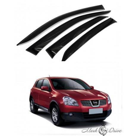 Дефлекторы окон для Nissan Qashqai (J10) 2007-2014 г.