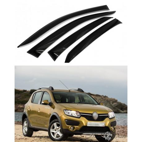 Дефлекторы окон для Renault Sandero c 2014 г.