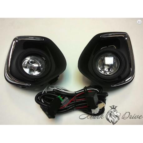 Противотуманные фары для Mitsubishi Outlander 2006-2014 с проводами и выкл.