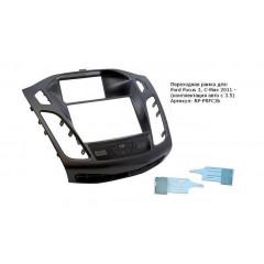 """Переходная рамка для Ford Focus 3, C-Max 2011 -, 2din, крепеж, черная (комплектация авто с 3.5)"""""""