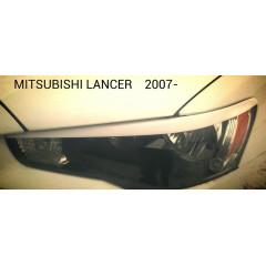 Реснички на фары MITSUBISHI LANCER 2007-