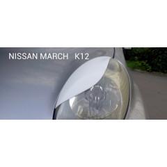 Реснички на фары NISSAN MARCH K12 2002-