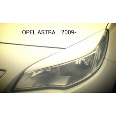 Реснички на фары OPEL ASTRA J 2009-