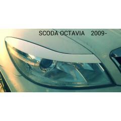 Реснички на фары SKODA OCTAVIA 2009-