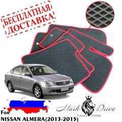 Коврики в салон EVA Nissan Almera (2013-2015)
