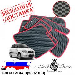Коврики в салон EVA Skoda Fabia 2 (2007-н.в)